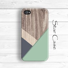 Geometric iPhone 5 Case, iPhone 5s Case Wood Print, Green iPhone 5C Case, iPhone 4 Case, iPhone 5 Cases, iPhone Case iPhone 5 Case by Star Case