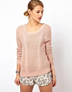 Image 1 of Selected Cotton Cable Knit Sweater