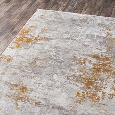 Add striking, sophisticated style to any indoor space with this eye-catching rug from Momeni. Each is crafted to offer sumptuous softness and comfort to your floors, . Copper And Grey, Grey And Gold, Silver Living Room, Rugs In Living Room, Gold Rug, Machine Made Rugs, Gold Marble, Modern Area Rugs, Indoor Rugs