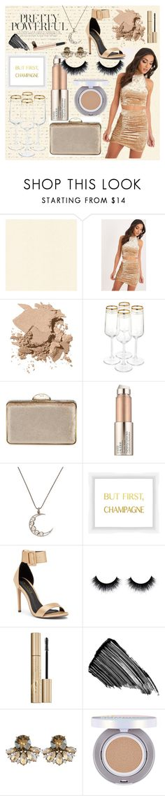 """Champagne"" by meinersk45195 ❤ liked on Polyvore featuring Bobbi Brown Cosmetics, Judith Leiber, Estée Lauder, Jyoti, PTM Images, Liliana, Stila, Sisley, Saturday Skin and Becca Cosmetics"