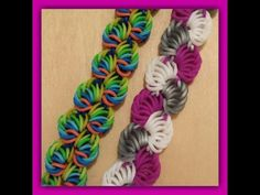 "New "" Sorbet Delight "" Hook Only Rainbow Loom Bracelet/ How To Tutorial. Would definitely look pretty using the rounded silicone bands."