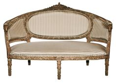Antique French Louis XVI Style Settee. | VandM.com