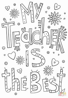 Teacher Appreciation Week Coloring Pages Collection