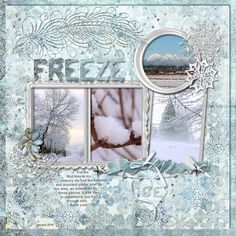 "Using Kit ""Winter Wonder"" by Designs by Laura Burger Jan 2017"
