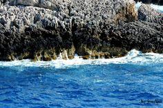 #blue #rocks #sea Timeline Photos, Landscapes, Rocks, Waves, Sea, Blue, Photography, Outdoor, Fotografie