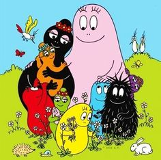 Barbapapa. A Saturday morning cartoon, among other things. They're just on the edge of my memory.