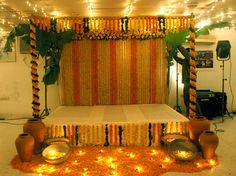 gaye holud stage decoration picture - Google Search