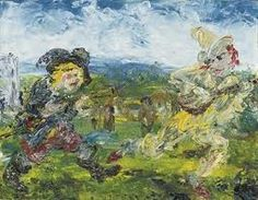 poboh: The Fool Chase, Jack Butler Yeats. Irish - I really like this J.s painting. Irish Painters, Jack B, William Butler Yeats, Irish Art, English Artists, Naive Art, Feeling Special, Contemporary Paintings, The Fool