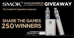 From your friends at E-Cigarette-Forum.com and Smok, win one of 250 FREE Smok Cloud Machine Kits!