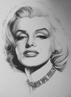 "Marilyn Monroe drawing by ""Timeless-Faces"" on deviantArt"