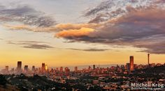 Johannesburg City Skyline at Sunrise - JHB