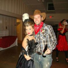 Diy saloon girl and cowboy costumes for murder mystery