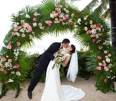 Although some of the guests are forced to eat raw onions and the bride . Wedding Gate, Outdoor Wedding Reception, Wedding Arch Flowers, Flower Bouquet Wedding, Tropical Floral Arrangements, Wedding Stage Decorations, Wedding Abroad, Deco Table, Island Weddings