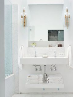 Amazing bathroom setup = Built for Two: Inspiration for Bathrooms with Double Sinks