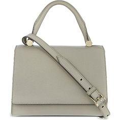 MAX MARA J-bag flap satchel (Light grey
