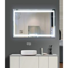 light up your home with this harmony illuminated small led mirror illuminated with an led light this mirror can be hung on your wall to allow optimal