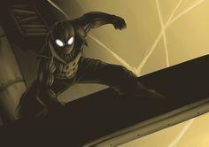 Noir Spiderman by Riverlimzhichuan on DeviantArt Batman Vs Spiderman, Batman Art, Amazing Spiderman, Marvel Art, Marvel Heroes, Marvel Comics, Epic Characters, Comic Book Characters, Comic Character