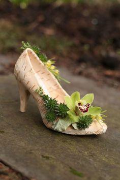 botanical shoe, design Floral Verde, workshop Francoise Weeks Feb 2014