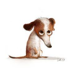 Children Cartoon Dogs New Ideas Cute Animal Illustration, Cute Animal Drawings, Cartoon Drawings, Cute Drawings, Illustration Art, Art Carte, Cartoon Dog, Children Cartoon, Cute Monsters