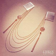 Bohemian Goddess gold or silver hair chain head piece with charmed tassels, chain headpiece, hair jewelry, hair chain, hair bun, Celebrity