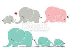 Cute Elephant - Vector File EPS10 Royalty Free Stock Vector Art Illustration