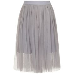 Lydia Rose Bright Lilac Grey Tulle Ballerina Midi Skirt found on Polyvore featuring skirts, bottoms, grey, gray midi skirt, calf length skirts, stretch skirt, knee length tulle skirt and tulle ballerina skirt