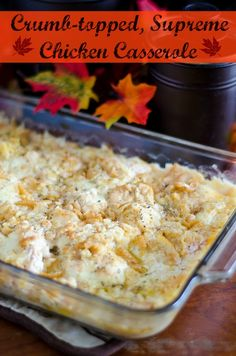Crumb-topped, Swiss Chicken recipe to the rescue for your busy school nights! #quickfixcasseroles