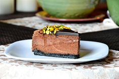 Triple Chocolate Cheesecake with Pistachios