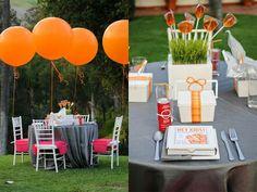 Centro de mesa para niños en boda.
