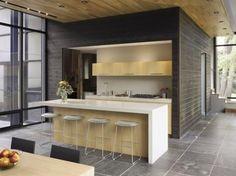 Minimalist Cottage Kitchen Los Muebles Generalmente Son Livianos Simples Rectos Los Gabinetes