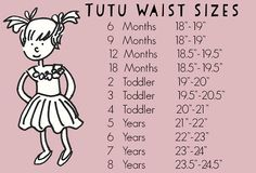 Tutu waist size guide for our rainbow clown tutus!
