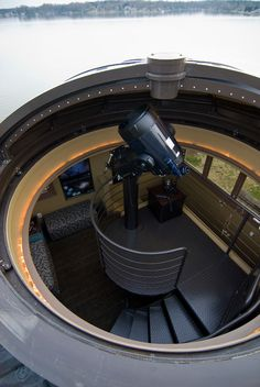 I would totally want an observatory in my house. I love astronomy and the night sky is so beautiful. I would get a high powered telescope and spend most clear nights there. Dream Home Design, House Design, Silo House, Astronomical Observatory, Modern Mansion, Space And Astronomy, Stargazing, Telescope, Architecture Details