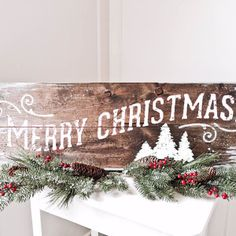 11x32 merry christmas sign merry christmas signs holiday signs christmas pallet signs holiday - Wooden Christmas Signs
