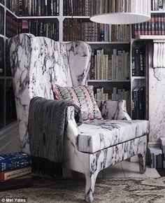 marble soft furnishing ha! Love this chair