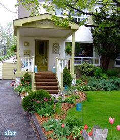 click on this to see the before and you will want to add a porch like this to your place