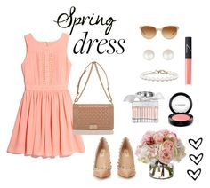 """Spring dress"" by xiloveyoustyles on Polyvore featuring moda, GUESS by Marciano, Chanel, Tiffany & Co., Valentino, Chloé, MAC Cosmetics, Diane James e NARS Cosmetics"