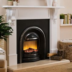 richmond mantel with regent electric fireplace