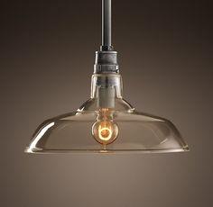 Vintage Barn Glass Pendant - over island lighting ideas