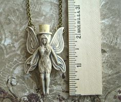 Fairy Necklace Rustic Brown Stoneware Tiny Ceramic Bottle Jewelry Long Antiqued Brass Rolo Chain New Holds Essential Oils