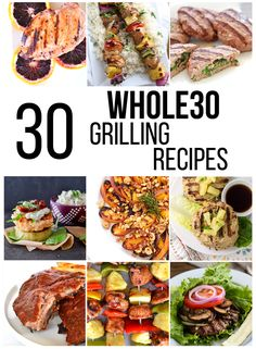 These Grilling Recipes are good for summer time and get togethers with family and friends! 30 recipes kind your Whole 30 Vegetarian, Paleo Whole 30, Whole 30 Recipes, Whole Food Recipes, Recipes Dinner, Breakfast Recipes, Breakfast Waffles, Paleo Breakfast, Restaurant Recipes