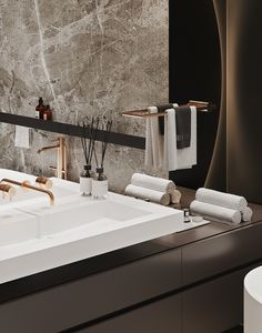 POLYANKA'44 on Behance Residential Architecture, Interior Architecture, Interior Design, Bathroom Design Luxury, Bathroom Interior, Minimal House Design, Apartment Projects, House Layouts, Pent House