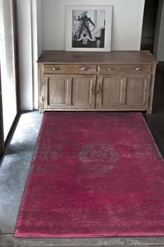 Fading World - Scarlet 8260. Large rugs for living rooms and bedrooms from Louis de Poortere. Fading World collection uses a vintage style with rich but faded colours. Free UK delivery.