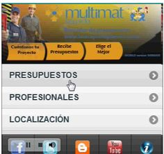 """Versión dispositivos móviles de la aplicación """"www.buscapresupuestos.com"""""""