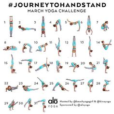 """Learn to handstand! Details below:  Announcing the March Yoga Challenge ➡️#journeytohandstand⬅️ Hosts: @kinoyoga & @beachyogagirl Sponsored by: @aloyoga…"""