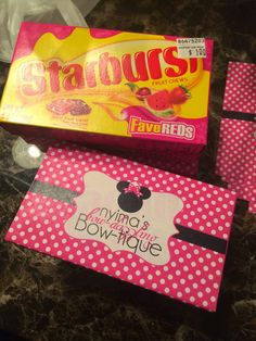 Minnie Mouse Starburst candy