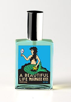 "A Beautiful Life Perfume ""Mermaid's Kiss"" -- This smells of fresh ocean air, island fruits, lush native flora, and the warmth of your skin in the sun. With notes of Jamaican lime, juicy pineapple, French cypress, pink lotus, bamboo lily and bay rum.  Exotic and intoxicating!"