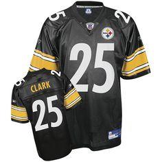 Reebok Pittsburgh Steelers Ryan Clark 25 Black Authentic Jerseys Sale