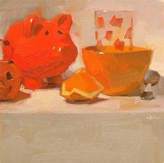 """For the Love of Orange"" - Original Fine Art for Sale - © Carol Marine"