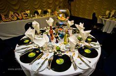 décoration mariage, wedding, centerpiece, centre de table, musique