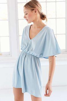 Silence + Noise Split-Sleeve Cupro Knit Mini Dress - Urban Outfitters